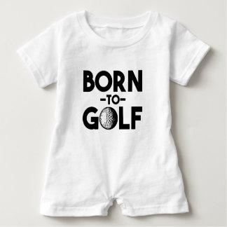 Nascer para golf a camisa engraçada do bebé