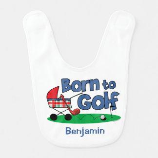 Nascer para golf o babador do bebê