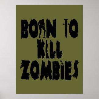 Nascer para matar zombis pôster
