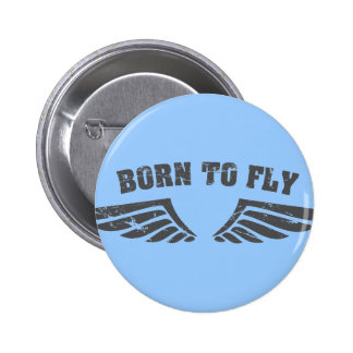 Nascer para voar as asas bóton redondo 5.08cm