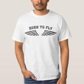 Nascer para voar as asas camisetas