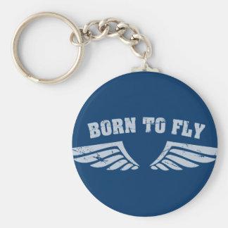 Nascer para voar as asas chaveiro
