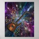Nascimento de um poster da música do espaço da gui