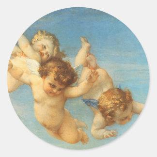 Nascimento de Venus, detalhe dos anjos por Cabanel Adesivo Em Formato Redondo