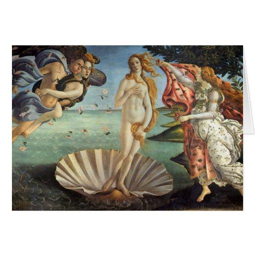 Nascimento de Venus por Botticelli, arte de renasc Cartões