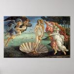 Nascimento de Venus por Botticelli, arte de renasc Posteres