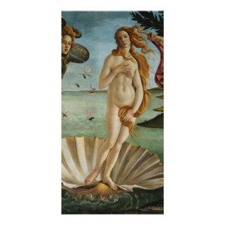 Nascimento de Venus por Sandro Botticelli Cartão Com Foto Personalizado