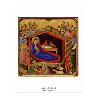 Nascimento do cristo por Duccio Cartão Postal