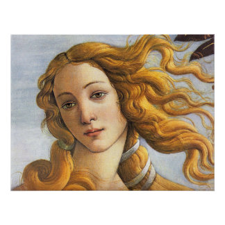 Nascimento do detalhe de Venus, Botticelli Poster
