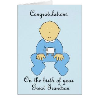 Nascimento do excelente - neto, felicitações cartão comemorativo