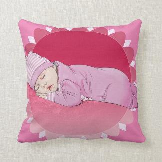 nascimento infantil bonito do travesseiro da almofada