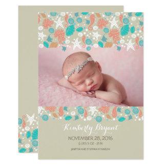 Nascimento recém-nascido da foto do bebê de convite 12.7 x 17.78cm