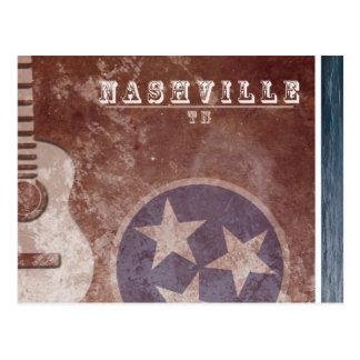 Nashville, cartão da guitarra da bandeira do