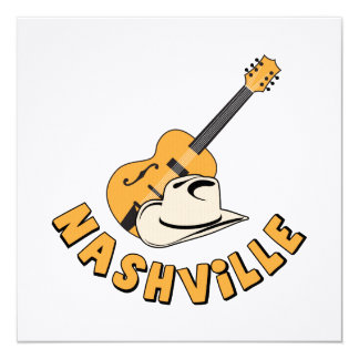 Nashville Convite Quadrado 13.35 X 13.35cm