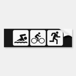 Natação, bicicleta, funcionamento - Triathlon Adesivo Para Carro
