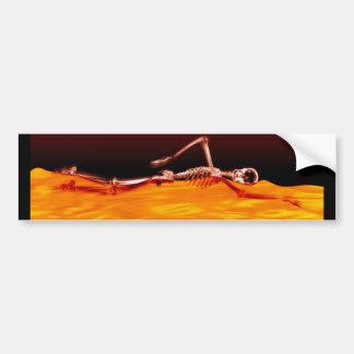Natação de esqueleto do raio X no lago do fogo Adesivo Para Carro