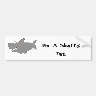 Natação do tubarão dos desenhos animados adesivo