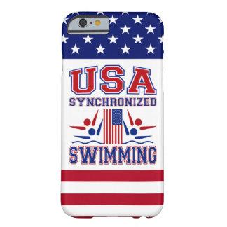 Natação sincronizada dos EUA Capa Barely There Para iPhone 6