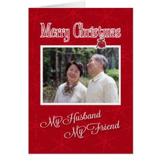 Natal, a meu marido - modelo do cartão com fotos