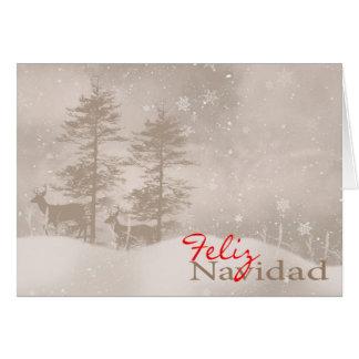 Natal à moda espanhol da língua boas festas cartão comemorativo