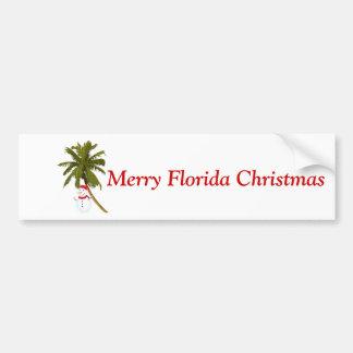 Natal alegre de Florida, boneco de neve sob a palm Adesivo Para Carro