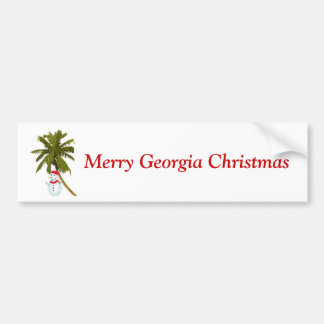 Natal alegre de Geórgia, boneco de neve sob a palm Adesivos
