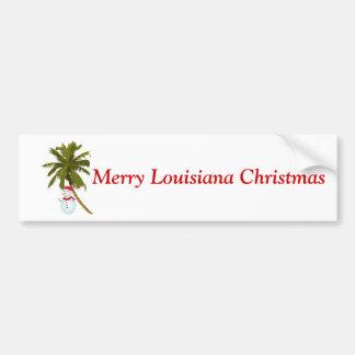 Natal alegre de Louisiana, boneco de neve sob a pa Adesivos