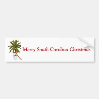 Natal alegre de South Carolina, boneco de neve sob Adesivos