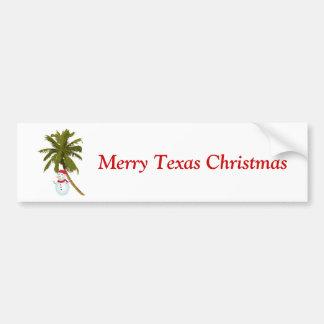 Natal alegre de Texas, boneco de neve sob a palma Adesivo