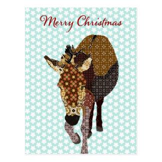 Natal alegre do cartão da estrela azul de Moses Cartão Postal