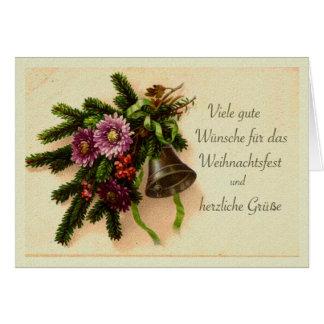 Natal alemão, cartão do vintage de Weihnachtsfest