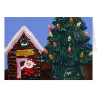 Natal antiquado cartão comemorativo