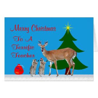 Natal ao cartão do professor