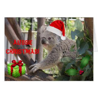 Natal australiano a você cartão