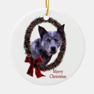 Natal australiano do cão do gado ornamento de cerâmica