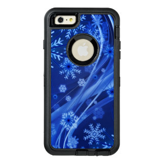 Natal azul dos flocos de neve do inverno