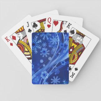 Natal azul dos flocos de neve do inverno jogo de carta