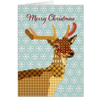 Natal azul Sparkling Gree dos flocos de neve da Cartão Comemorativo