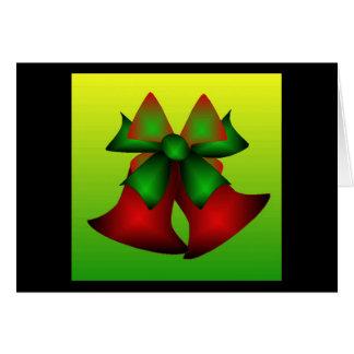 Natal Bels Cartão Comemorativo