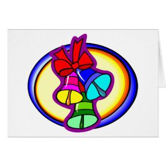 Natal Bels colorido Cartão De Nota