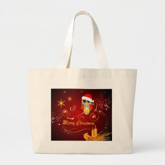 Natal bonito da coruja bolsa para compras