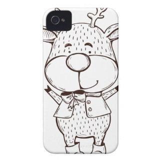 Natal bonito de Rudolf preto e branco Capinhas iPhone 4