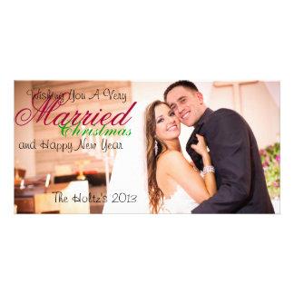 Natal casado cartão com foto