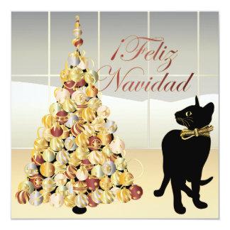 Natal com o cartão/convite espanhóis de Bella