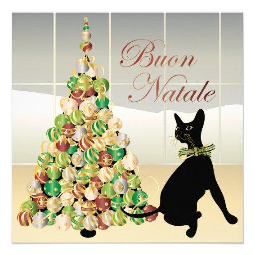 Natal com o cartão/convite italianos de Bella