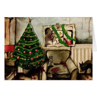 Natal com o cartão de Natal do zombi dos zombis