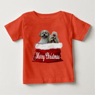 Natal da camisa do bebê do tzu de Shih