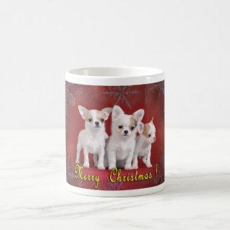 Natal da chihuahua caneca de café