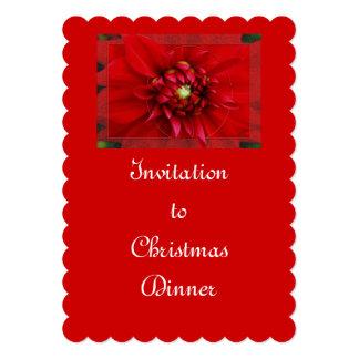 Natal da dália convite 12.7 x 17.78cm