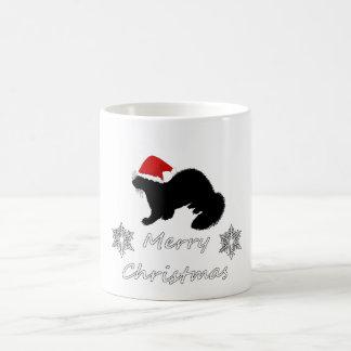 Natal da doninha caneca de café